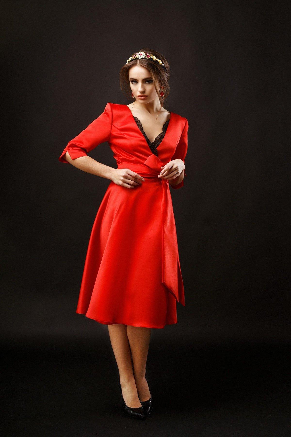 Сукня Luna Red - купити коктейльні сукні та вечірні сукні Olya Mak c2c28711715bb