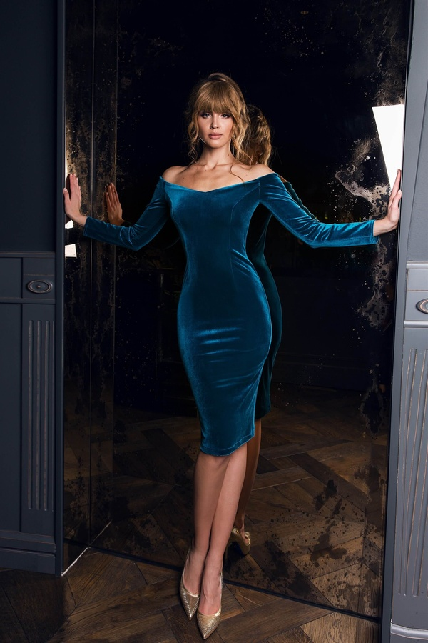 Dress Miley Blue 317 buy, Dress Miley Blue 317