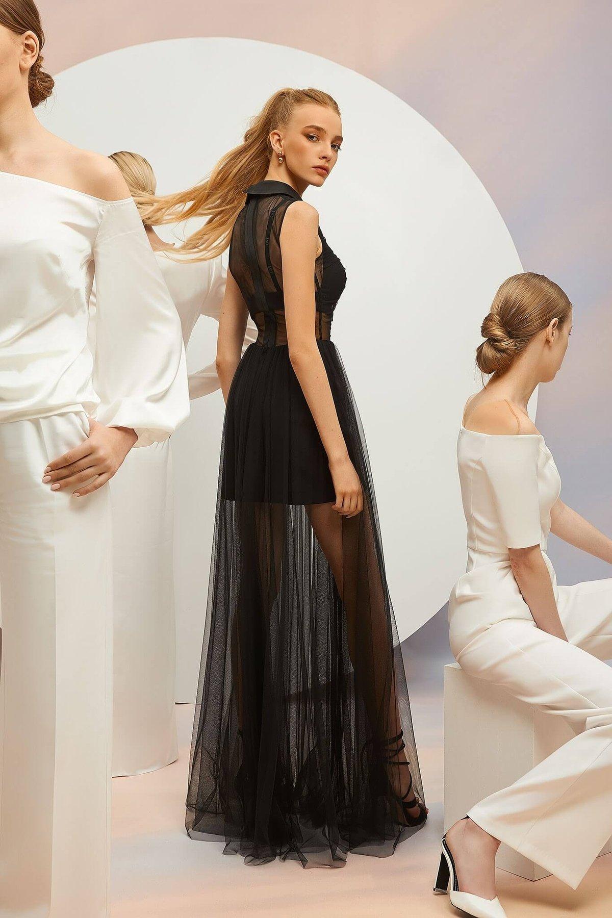 Dress Simona Black Top Lecco Black