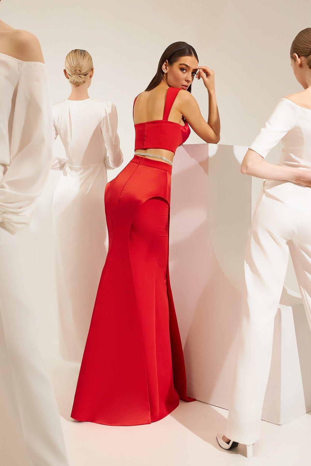 Top Mia, Mira skirt Red